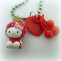 Hello Kitty Necklace - Keyring by EssHaych