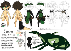 Shen: Updated ref sheet by Jellygay