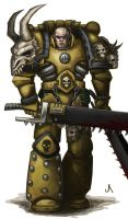 Skull bearers Space marine by jasperavent
