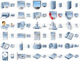 Desktop Device Icons by Ikont