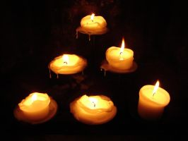 6 Pillar Candles Burned Down 1 by FantasyStock