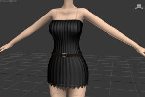 Short dress [WIP 2] by Wampa842