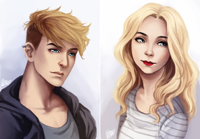 :C: Dustin and Chloe by Wernope