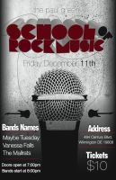 School of Rock Music Flyer by longdesinzzz