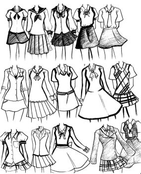 school uniforms by NeonGenesisEVARei
