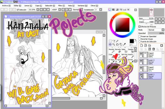 Projects, projects! by LadyCamafeo