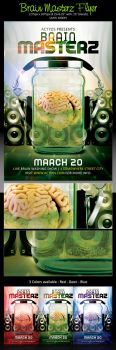 BRAIN MASTERZ Flyer Template {Fully Layered} FREE by ActYos