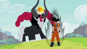 DBZ- MLP Goku Vs Tirek by CyrilSmith