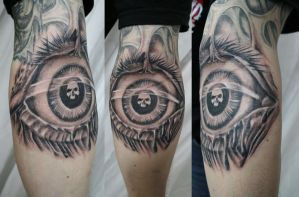 Skull Eye TaT by 2Face-Tattoo