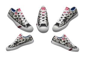 Death and Dishonor Lowtop Keds by Jawa-Tron
