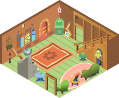 Inside Fluttershy_s cottage by iOVERD