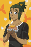 Beautiful Malasada Too Good For This World by cathanupto