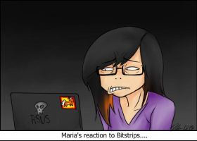 Reaction to Bitstrips by MESS-Anime-Artist
