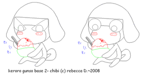 keroro base 2- chibi by MuffinNinjaFairy