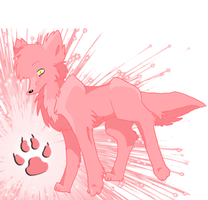 Pink Wolf FuLlViEw by Loveuneo191