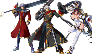 Project x zone Sanger Haken and Kaguya by Redchampiontrainer01