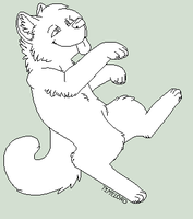 .:Lineart:. FREE Dancing Canine by qalaxybutt