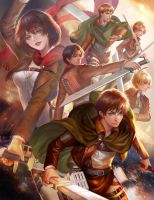 Attack on titan by jiuge