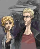 Buffy and Spike colored by zirofax