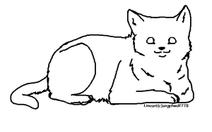 Cat Lineart by Angelwolf778