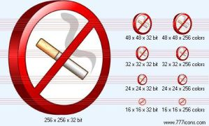 No smoking 3d Icon by medical-icon-set