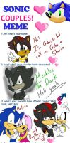 Sonic Couples Meme COMPLETE by Sharia0The0Hedgehog