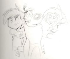 WIP: Danny, Dudley, Timmy by UmbriHearts