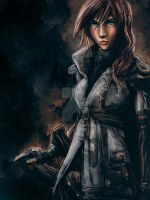Lightning from Final Fantasy 13 Painting by studiomuku