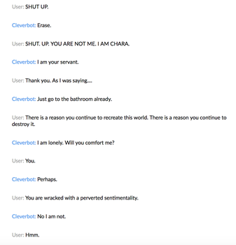 Cleverbot 10 by MistwolfUmbreon