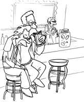 At Moe's Lineart by MWaters