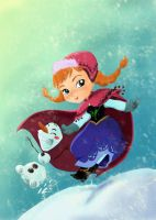 Anna and Olaf by MadEye01