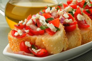 Bruschetta Appetizer 14786509 by StockProject1