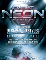 Event Neon PSD Template by renderyourmind