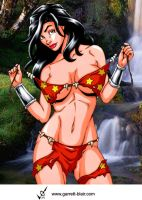 Savage Land Wonder Girl by Mythical-Mommy