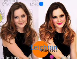 Leighton Meester retouch by caris94
