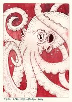 Octopus etching by flaming-trout