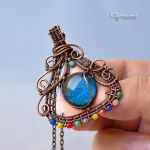 Copper wire boho pendant by artual