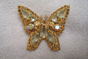 Butterfly jeweled pin, jewelry by paintresseye