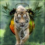 Tiger Fruit Clock by DevilsMayCry666