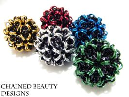 Chainmaille Juggling Balls by ChainedBeauty