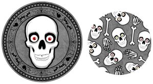 Gothic Skull Plate by Hobbit1978
