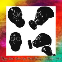 Gas Mask Brushes by dying-soul-stock