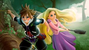 Kingdom Hearts Untangled by artspell