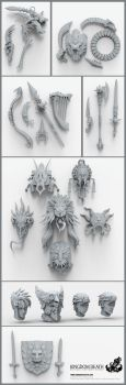 Kingdom Death Weapons by HecM