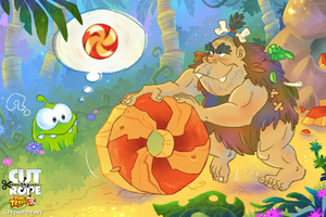Om Nom in the Stone Age 01 by Maksim2d
