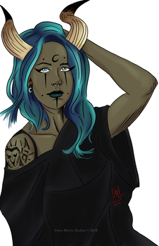 Horned Witch by Velox-Mortis