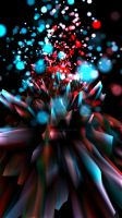 Abstract blue and red 4K (Portrait) by XxStryveRxX