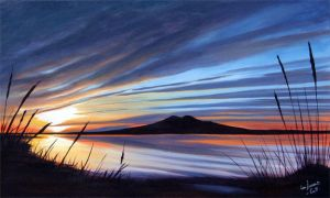 Rangitoto at Twilight by karlandrews