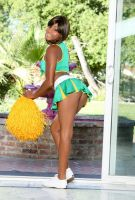 Ebony Cheerleader 03 by Hanzo-Hasashi