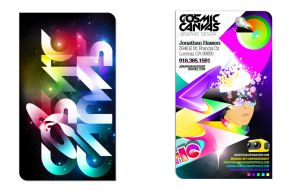 Cosmic Canvas Business Cards by jhasson